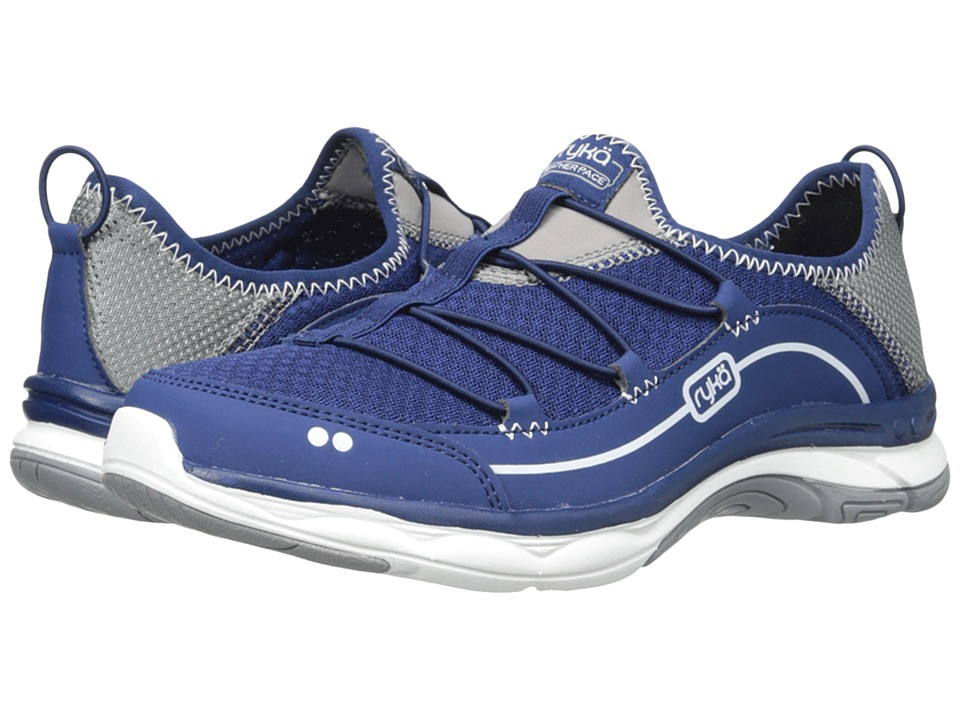 Ryka - Feather Pace (Jet Ink Blue/Frost Grey/White) Women
