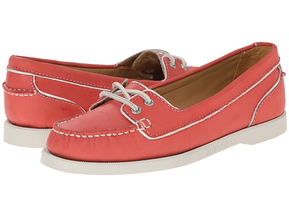 Sebago Dockside Two Eye (Coral Leather) Women