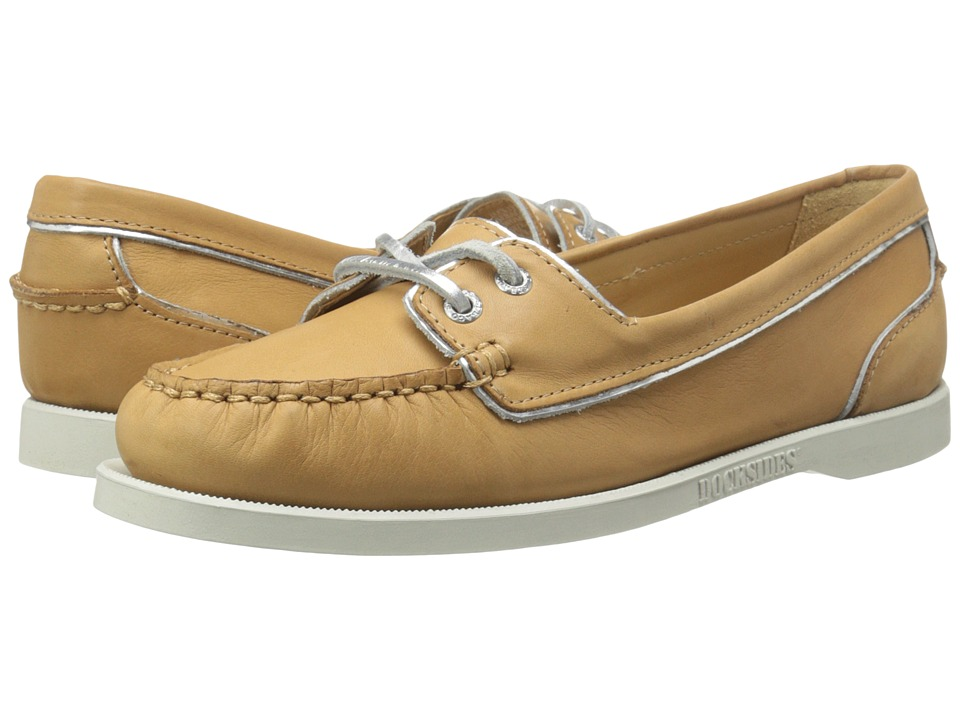 Sebago Dockside Two Eye (Tan Leather) Women