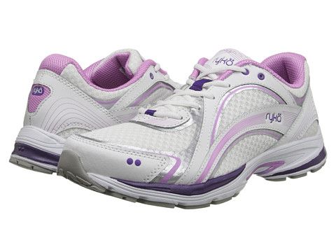 Ryka - Sky Walk (White/Fairy Lavender/Blast Purple.Chrome Silver) Women's Shoes