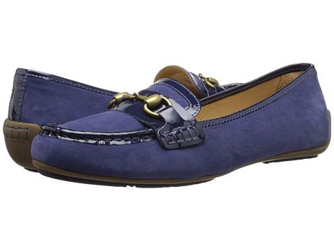 Sebago - Saybrook Link (Dark Blue Suede/Patent) Women's Shoes