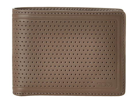 Tumi - Bowery Double Billfold (Pewter) Bill-fold Wallet