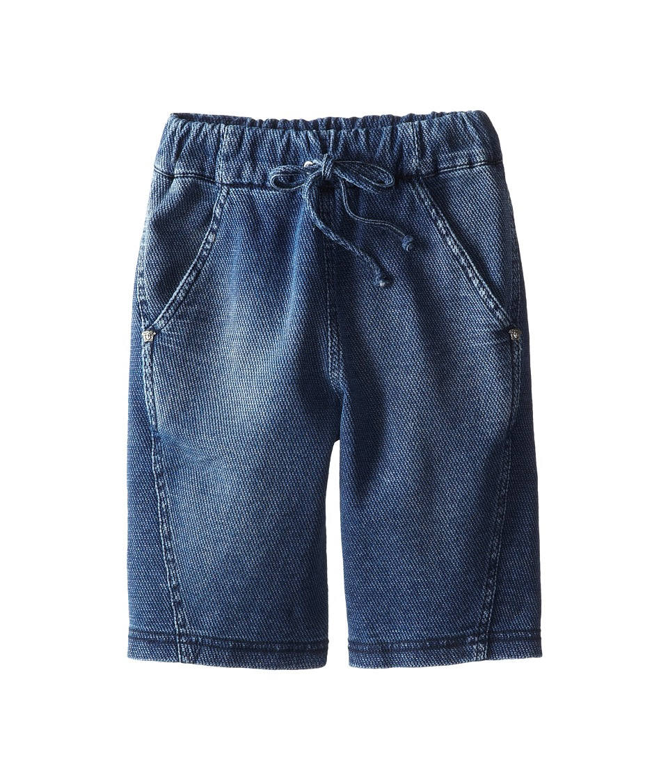 Versace Kids - Pique Bermuda Shorts (Toddler/Little Kids) (Denim Blue) Boy's Shorts