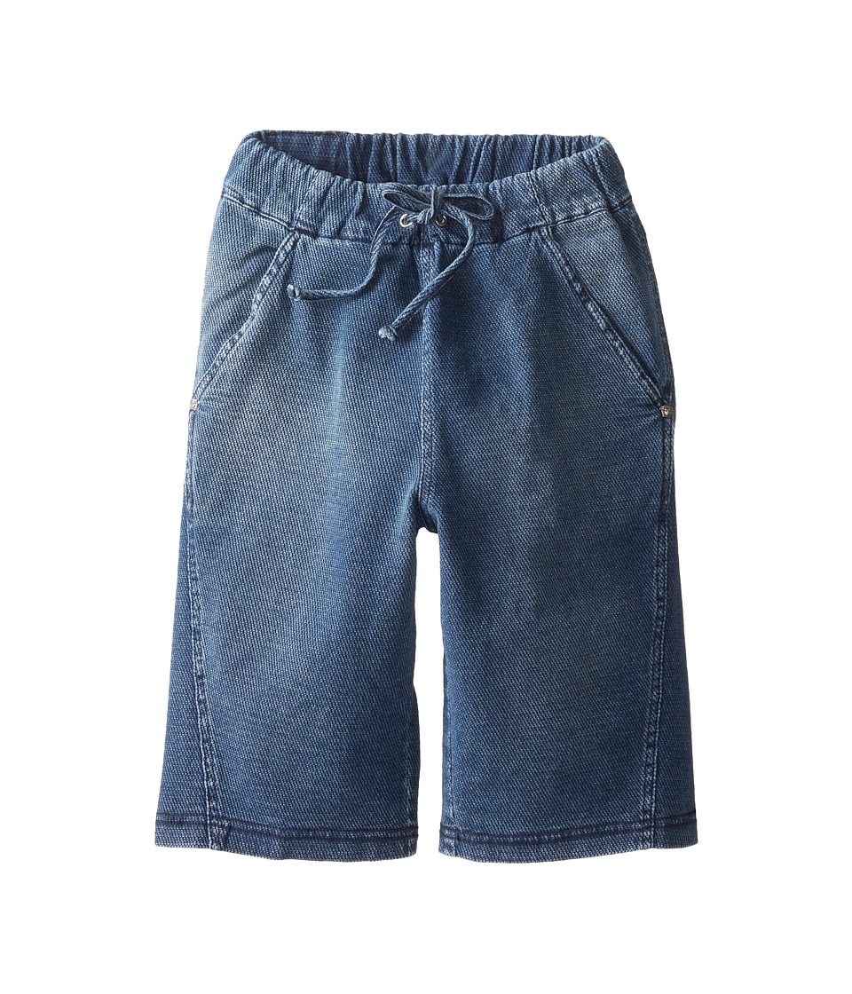 Versace Kids - Pique Bermuda Shorts (Big Kids) (Denim Blue) Boy's Shorts