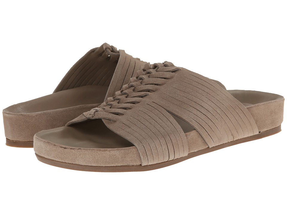 Image of Belle by Sigerson Morrison - Alva (Light Taupe Suede) Women's Toe Open Shoes