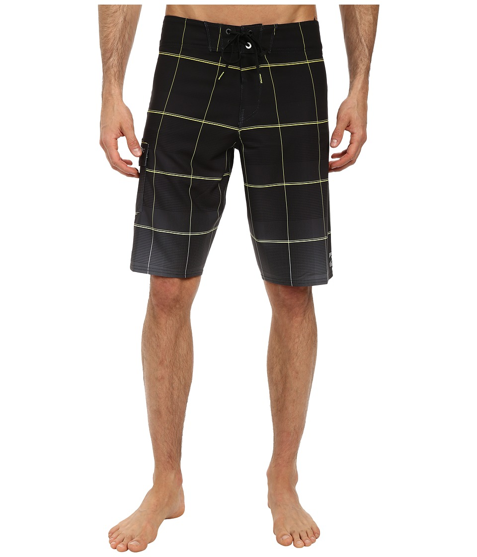 Billabong - All Day Plaid Boardshort (Black/Lime) Men's Swimwear