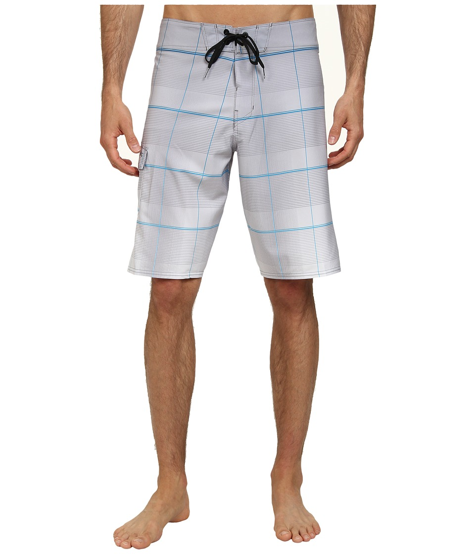 Billabong - All Day Plaid Boardshort (Light Grey) Men's Swimwear