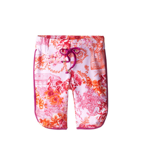 Versace Kids - Printed Capri Sweatpant (Toddler/Little Kids) (Pink/Orange) Girl