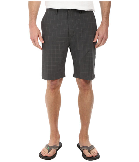 Billabong - Crossfire X Plaid Hybrid Short (Black) Men's Shorts