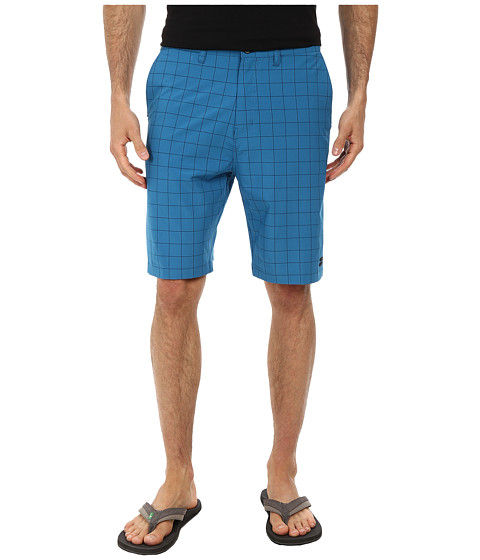 Billabong - Crossfire X Plaid Hybrid Short (Bright Blue) Men's Shorts
