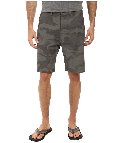 Billabong - Crossfire X Plaid Hybrid Short (Dark Camo) Men