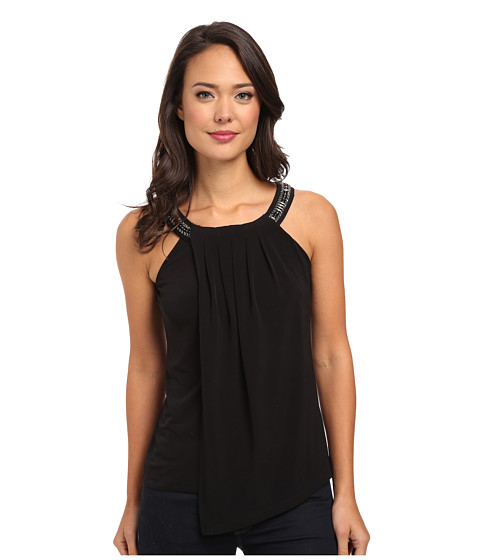 Calvin Klein - Jeweled Double Layer Top (Black) Women's Sleeveless