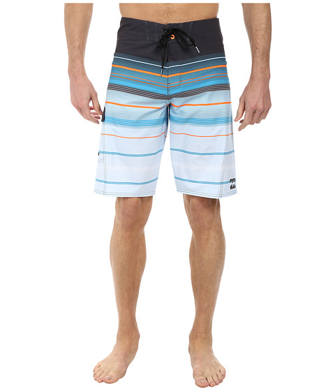 Billabong - All Day Stripe 21 Boardshort (Charcoal) Men's Swimwear