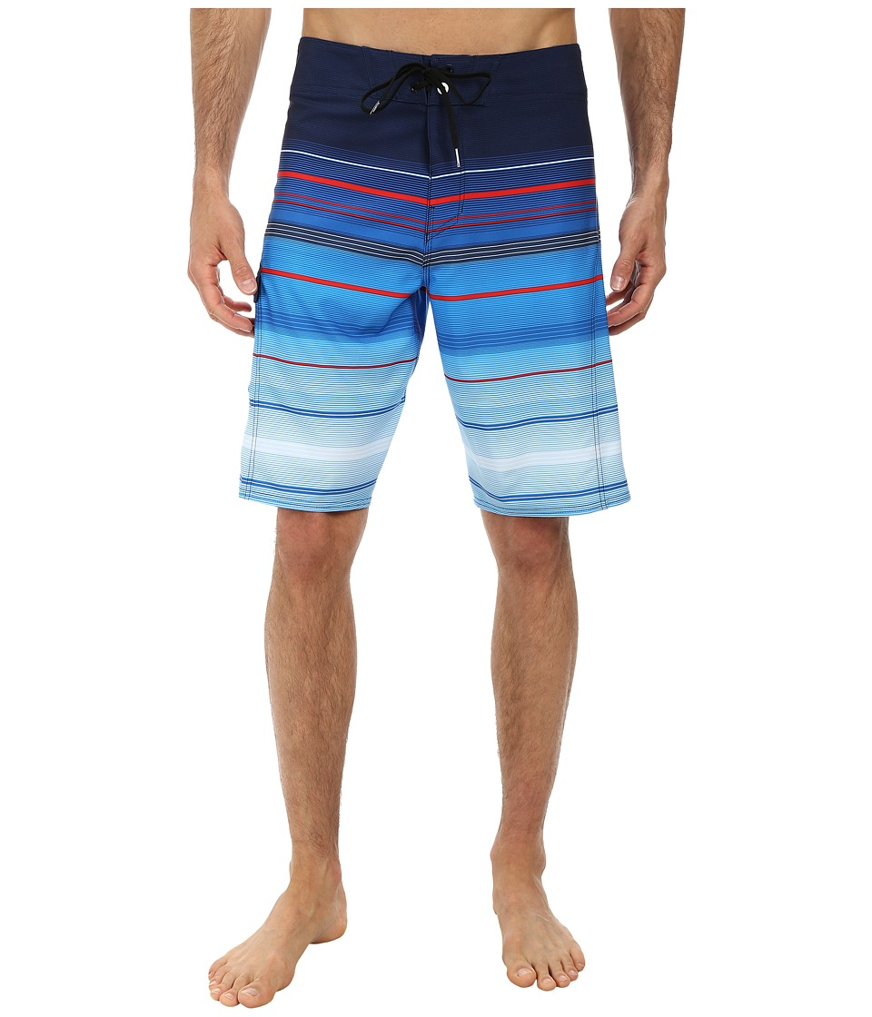 Billabong - All Day Stripe 21 Boardshort (Navy Blue) Men's Swimwear