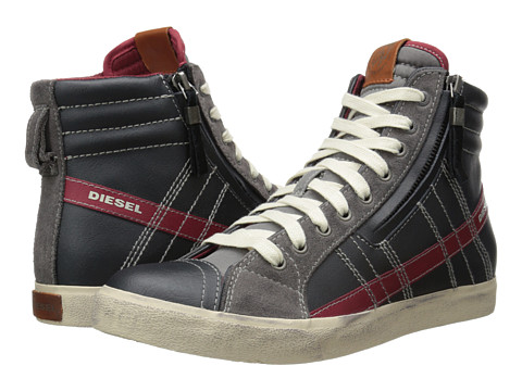 Diesel - D-Velows D-String (Black/Grey Gargoyle) Men's Shoes