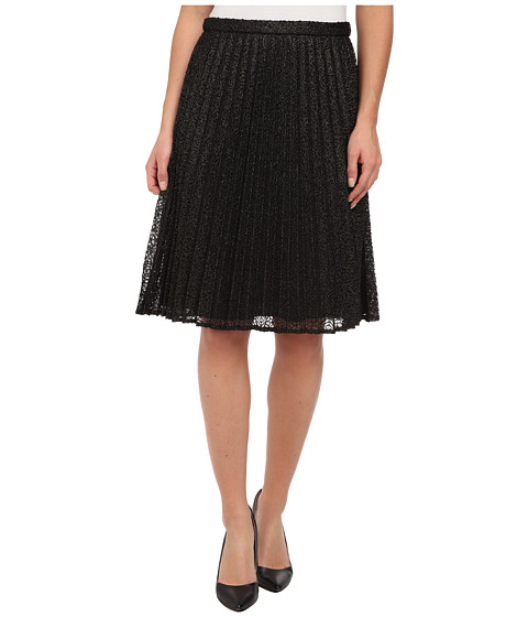 Calvin Klein - Metallic Lace Skirt (Black/Gold) Women