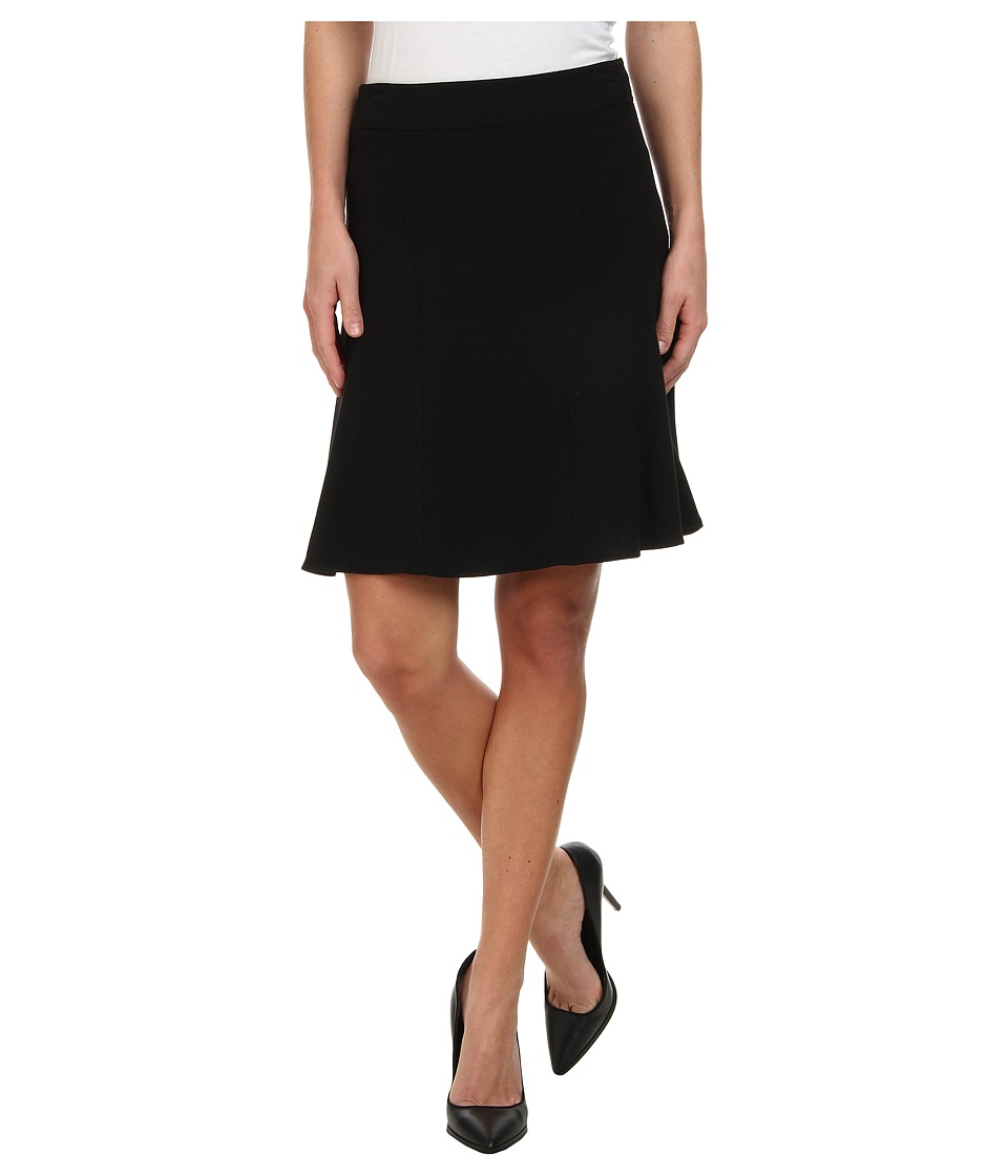 Calvin Klein - Flared Skirt (Black) Women's Skirt