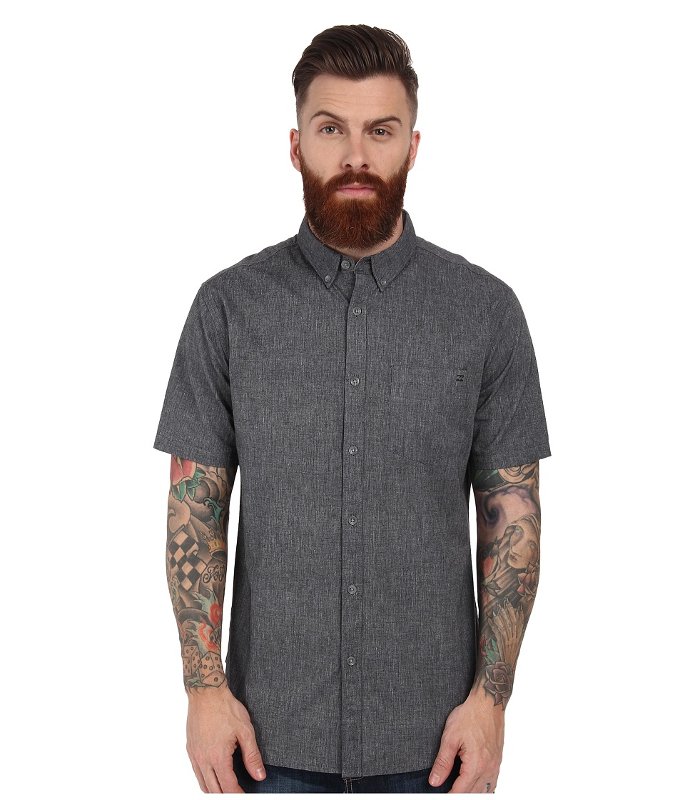 Billabong - All Day S/S Woven (Black) Men's Short Sleeve Button Up