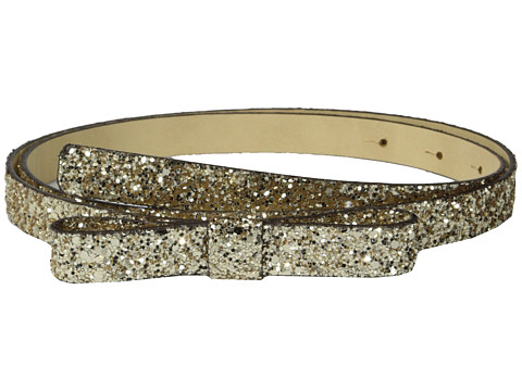 Kate Spade New York - Glitter Bow Belt (Light Gold 1) Women