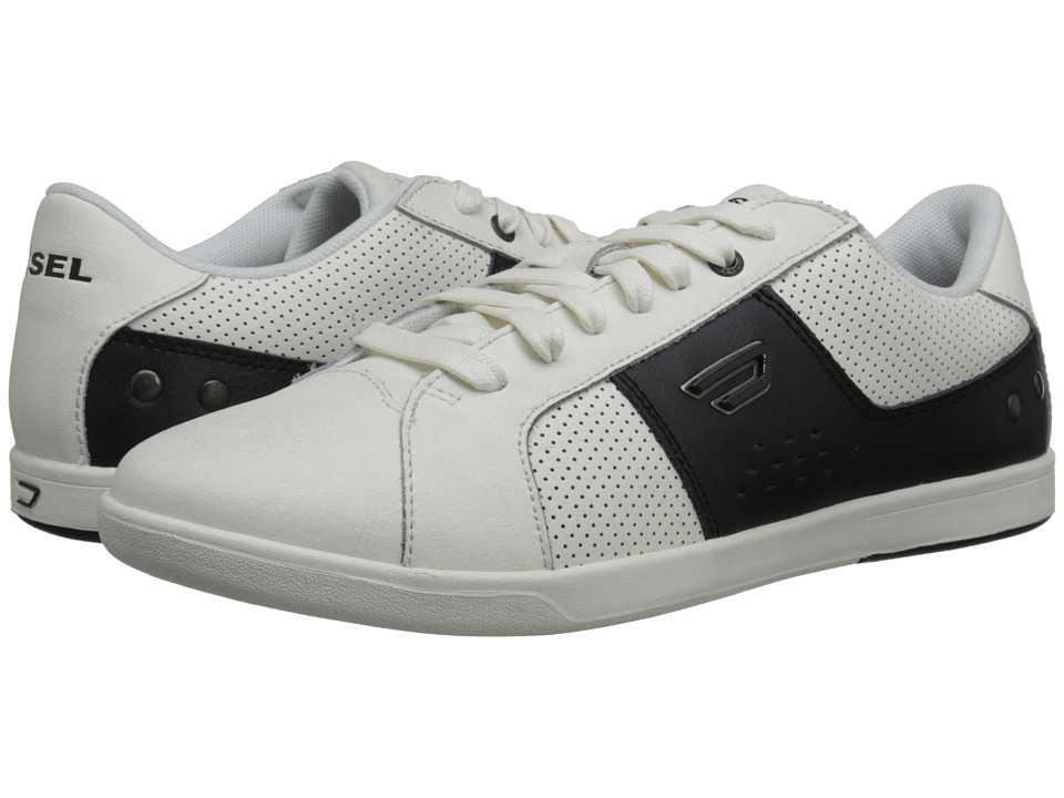 Diesel - Eastcop Gotcha (White/Anthracite) Men's Lace up casual Shoes