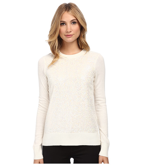 Kate Spade New York - Fluffy Wool Sequin Sweater (Cream) Women's Long Sleeve Pullover