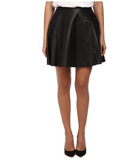 Kate Spade New York - Leather Circle Skirt (Black) Women