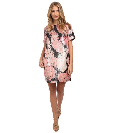 Kate Spade New York - Regal Plumes Platinum Jacquard Dress (Blush) Women's Dress