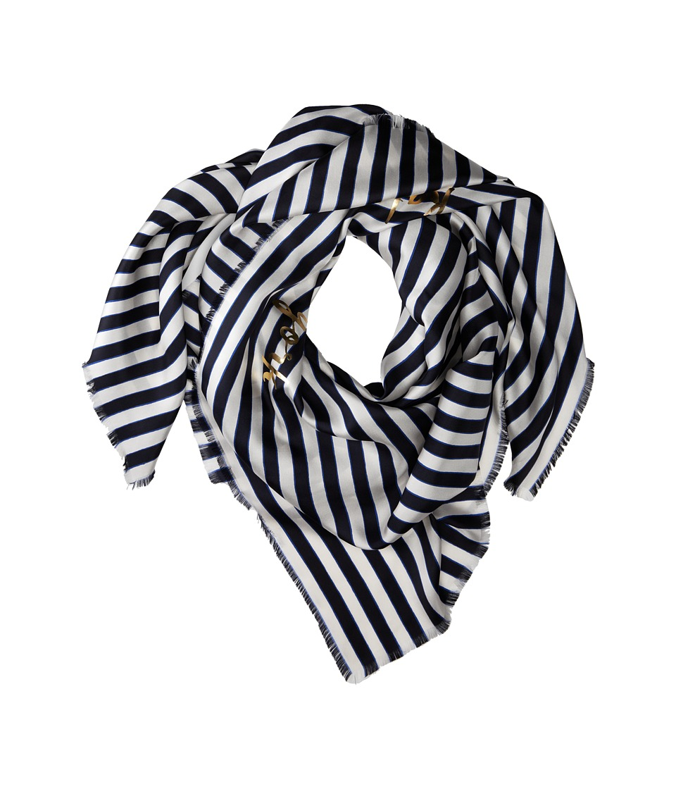 Kate Spade New York - Planetary Stripe Large Square (Rich Navy Multi) Scarves