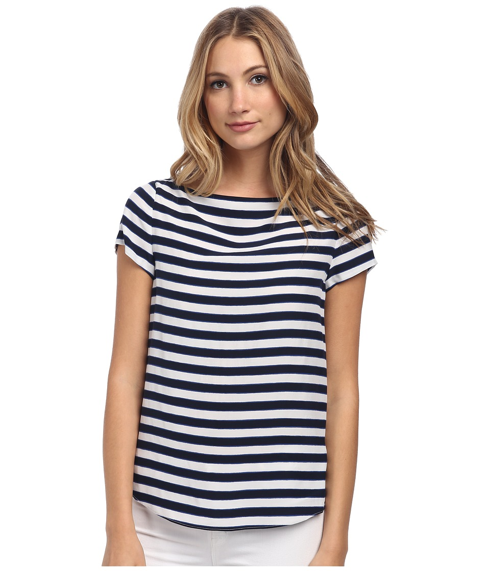 Kate Spade New York - Planetary Stripe Boatneck Top (Rich Navy) Women's Clothing