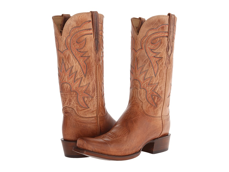 Lucchese - HL1504.73 (Tan Burnished) Cowboy Boots