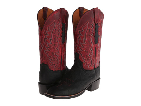 Lucchese - CL8010.W8 (Black/Red Brown) Cowboy Boots