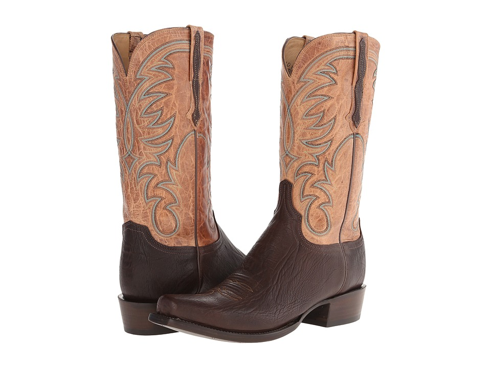 Lucchese - HL1511.73 (Jurassic Brown/Tan Burnished) Cowboy Boots
