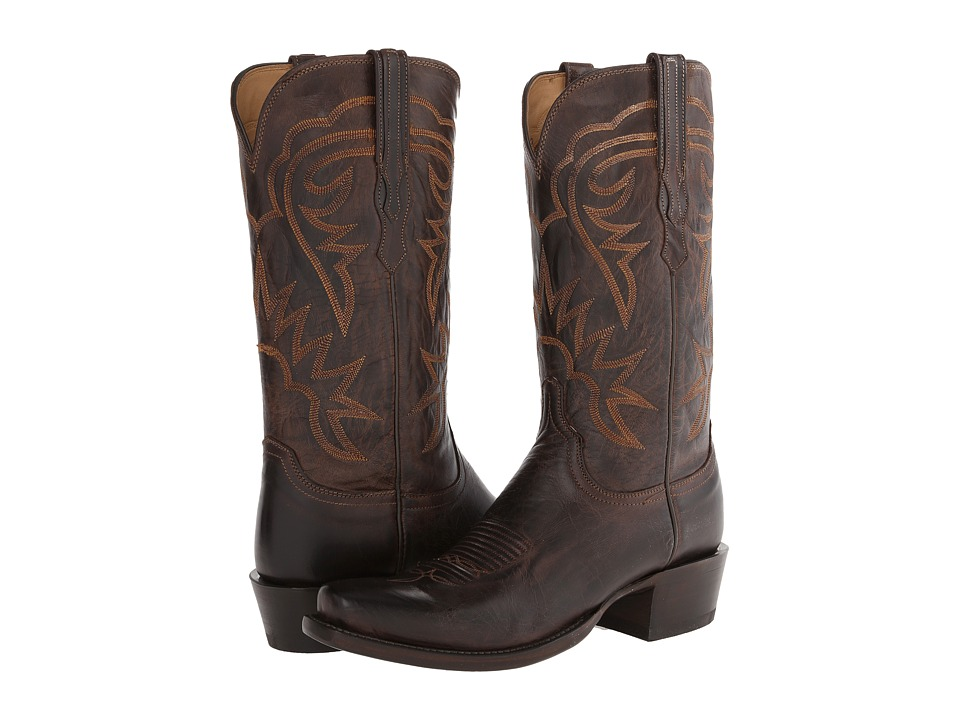 Lucchese - HL1503.73 (Chocolate Burnished) Cowboy Boots