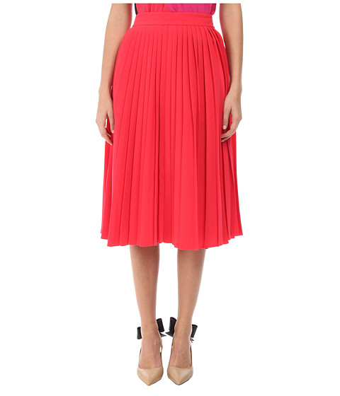 Kate Spade New York - Accordion Pleat Crepe Skirt (Aladdin Pink) Women's Skirt