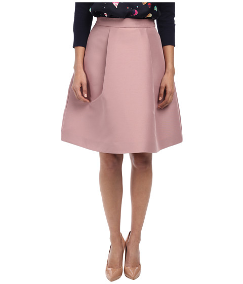 Kate Spade New York - Pleated A Line Skirt (Light Chocolate Milk) Women