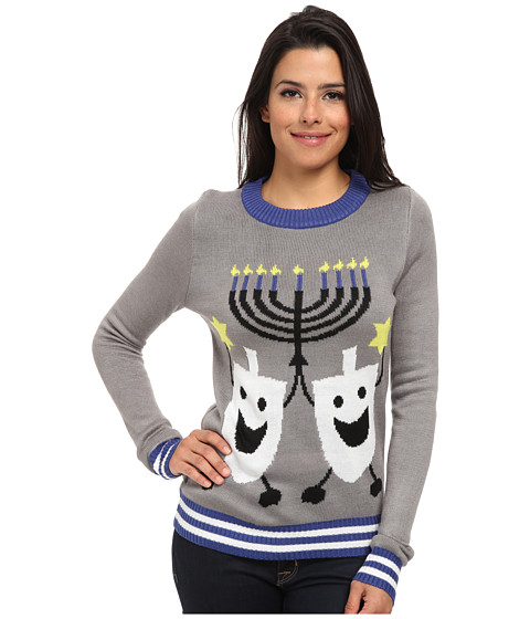 tipsy elves - Hanukkah Ugly Christmas Sweater (Grey) Women