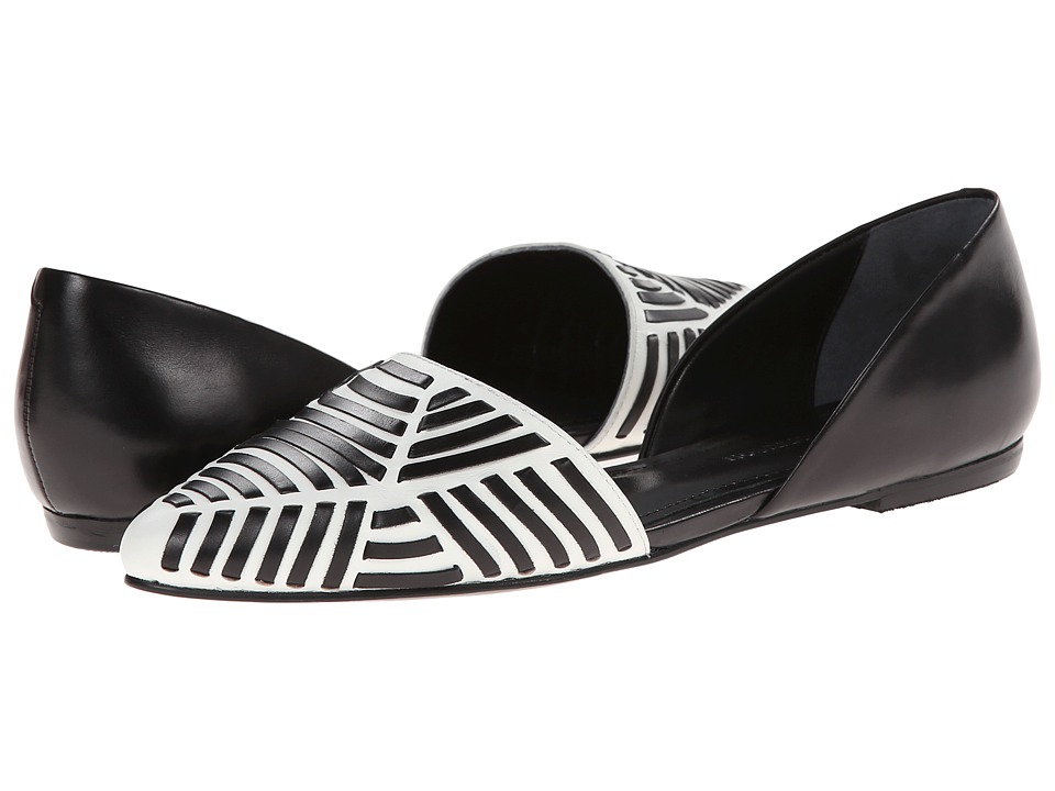 Sigerson Morrison - Velu (White/Black Leather) Women