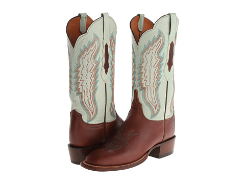 Lucchese - CL8006.W8 (Tan/Soft Green) Cowboy Boots