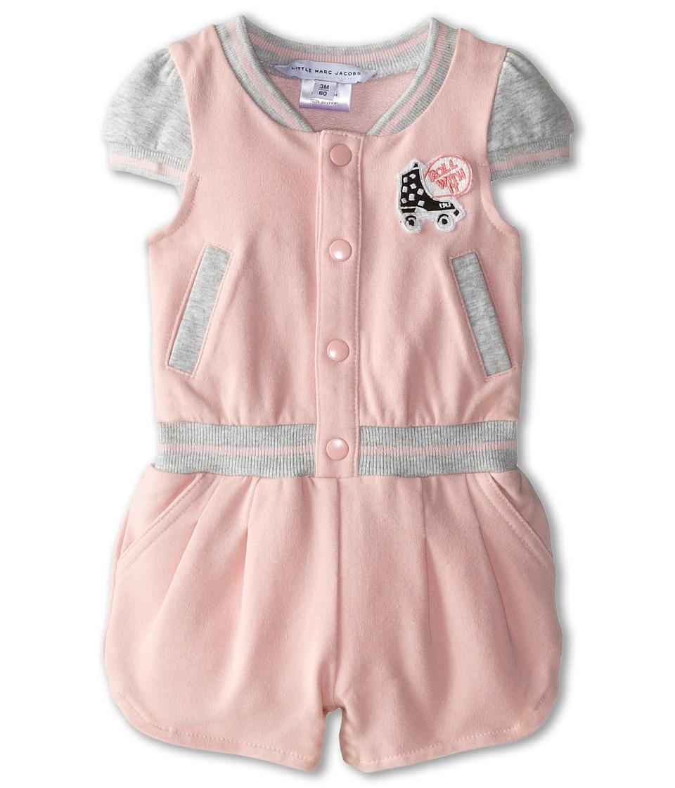 Little Marc Jacobs - Roller Fleece Romper (Infant) (Light Pink) Girl's Jumpsuit & Rompers One Piece