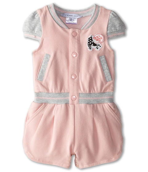 Little Marc Jacobs - Roller Fleece Romper (Infant) (Light Pink) Girl's Jumpsuit & Rompers One Piece