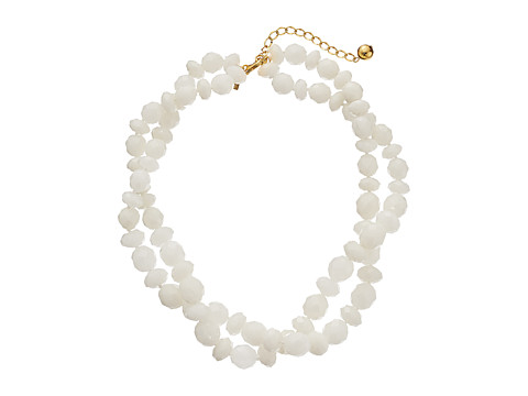 Kate Spade New York - Give It A Swirl Twisted Necklace (White) Necklace