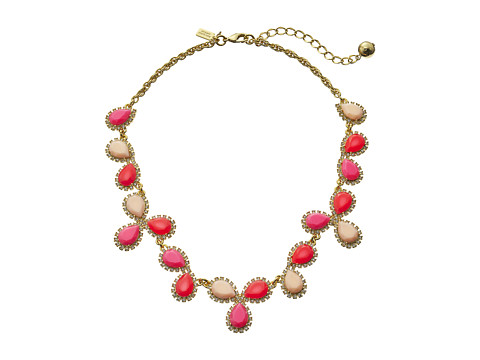 Kate Spade New York - Balloon Bouquet Cluster Necklace (Pink Multi) Necklace
