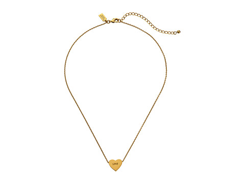 Kate Spade New York - Dear Valentine Love Necklace (Gold) Necklace