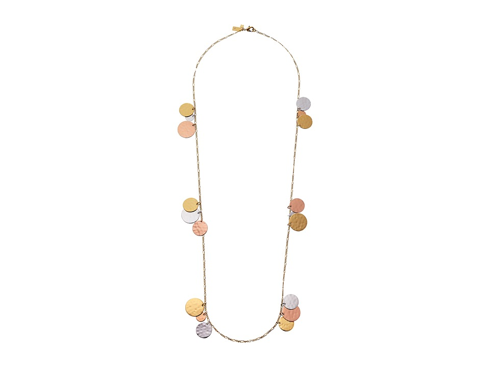 Kate Spade New York - Lucky Penny Scatter Necklace (Metal Multi) Necklace