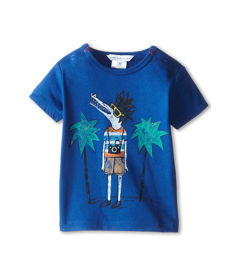 Little Marc Jacobs - Alligator Printed Summer Tee (Infant) (Medium Blue) Boy's T Shirt