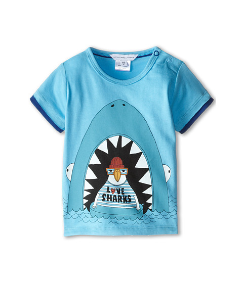 Little Marc Jacobs - Seagull Character Printed Tee (Infant) (Iceberg) Boy's T Shirt
