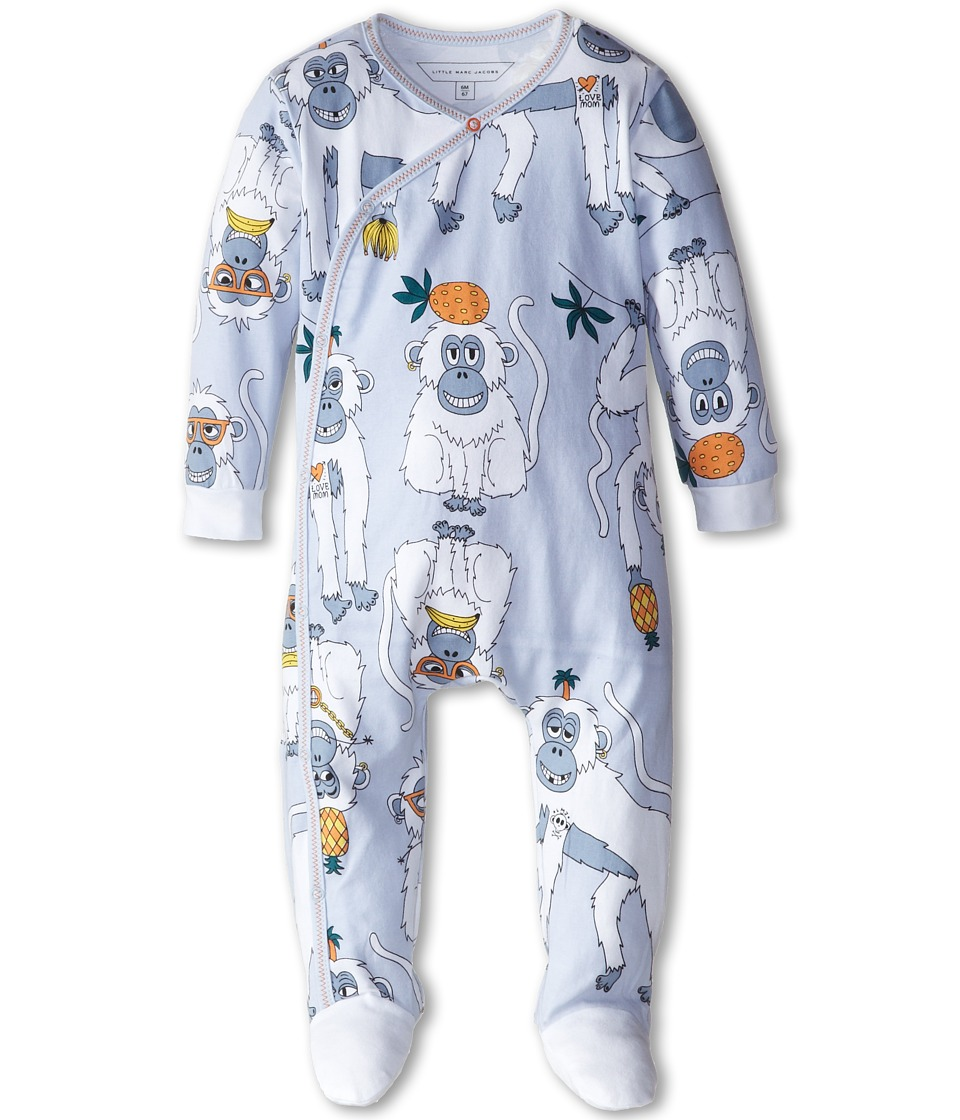 Little Marc Jacobs - All Over Print Footie (Infant) (Light Blue) Boy's Jumpsuit & Rompers One Piece