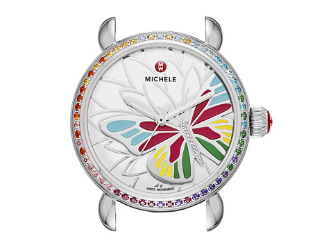 Michele - Garden Party Topaz Multi, Diamond Butterfly Watch Head (Topaz Multi) Watches