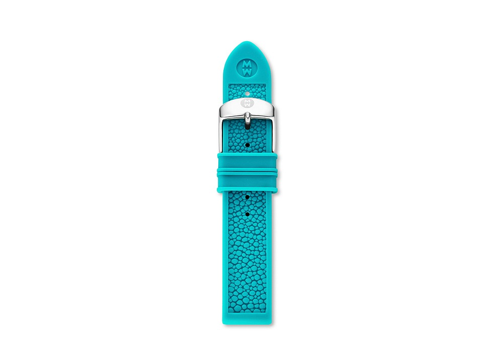 Michele - 18mm Turquoise Stingray Silicone (Turquoise) Watches