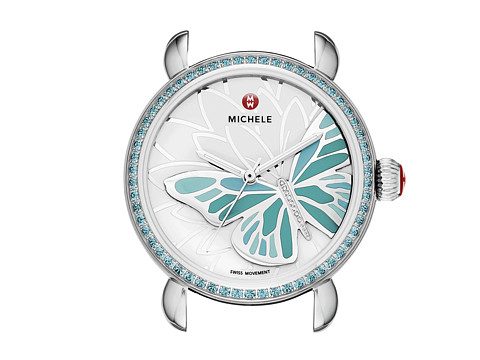 Michele - Garden Party Topaz Turquoise, Diamond Butterfly Watch Head (Turquoise Topaz) Watches